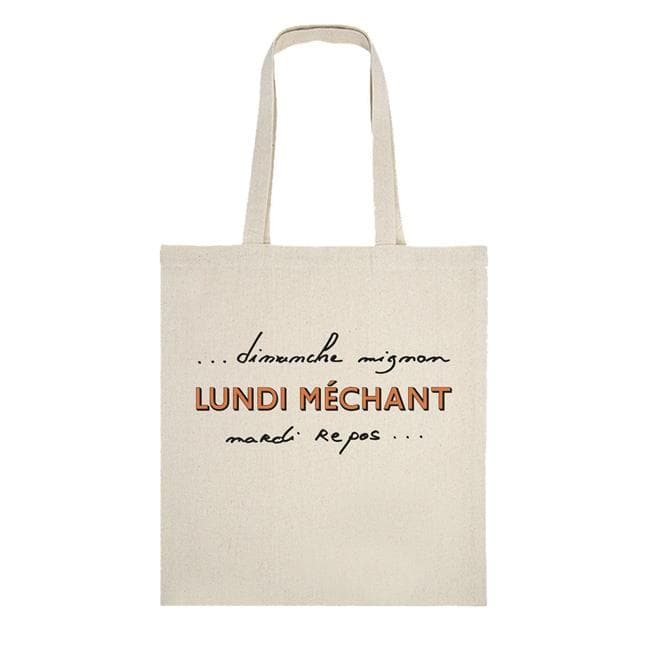 TOTEBAG LUNDI MECHANT