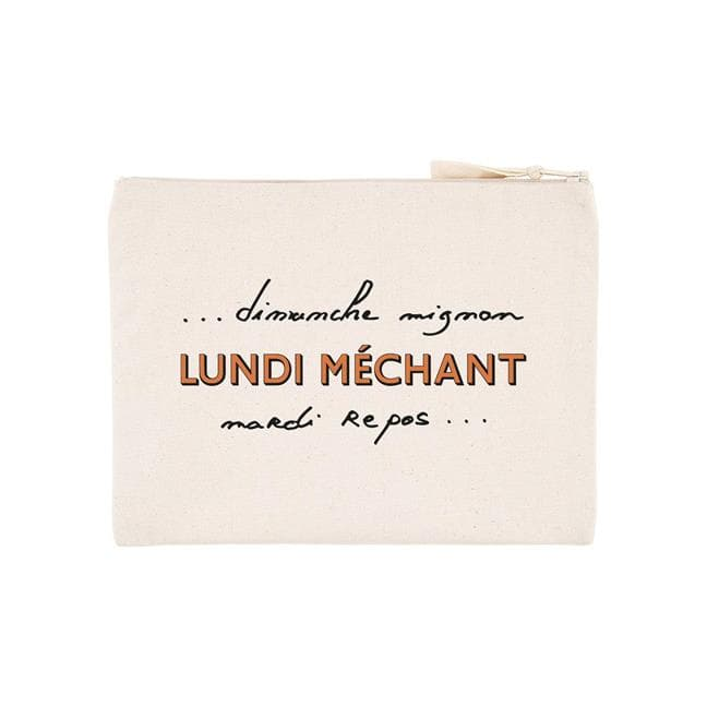 POCHETTE LUNDI MECHANT